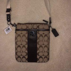Coach Signature Print Crossbody Bag